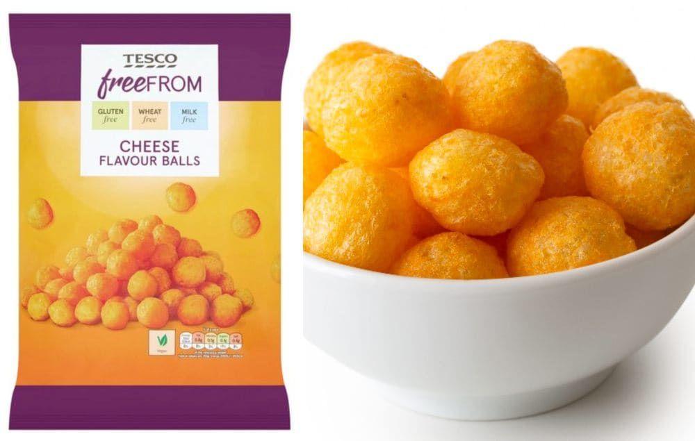 Tesco Launches 1 Vegan Cheese Balls Crisps Cheese Ball Potato Snacks Cheese Flavor