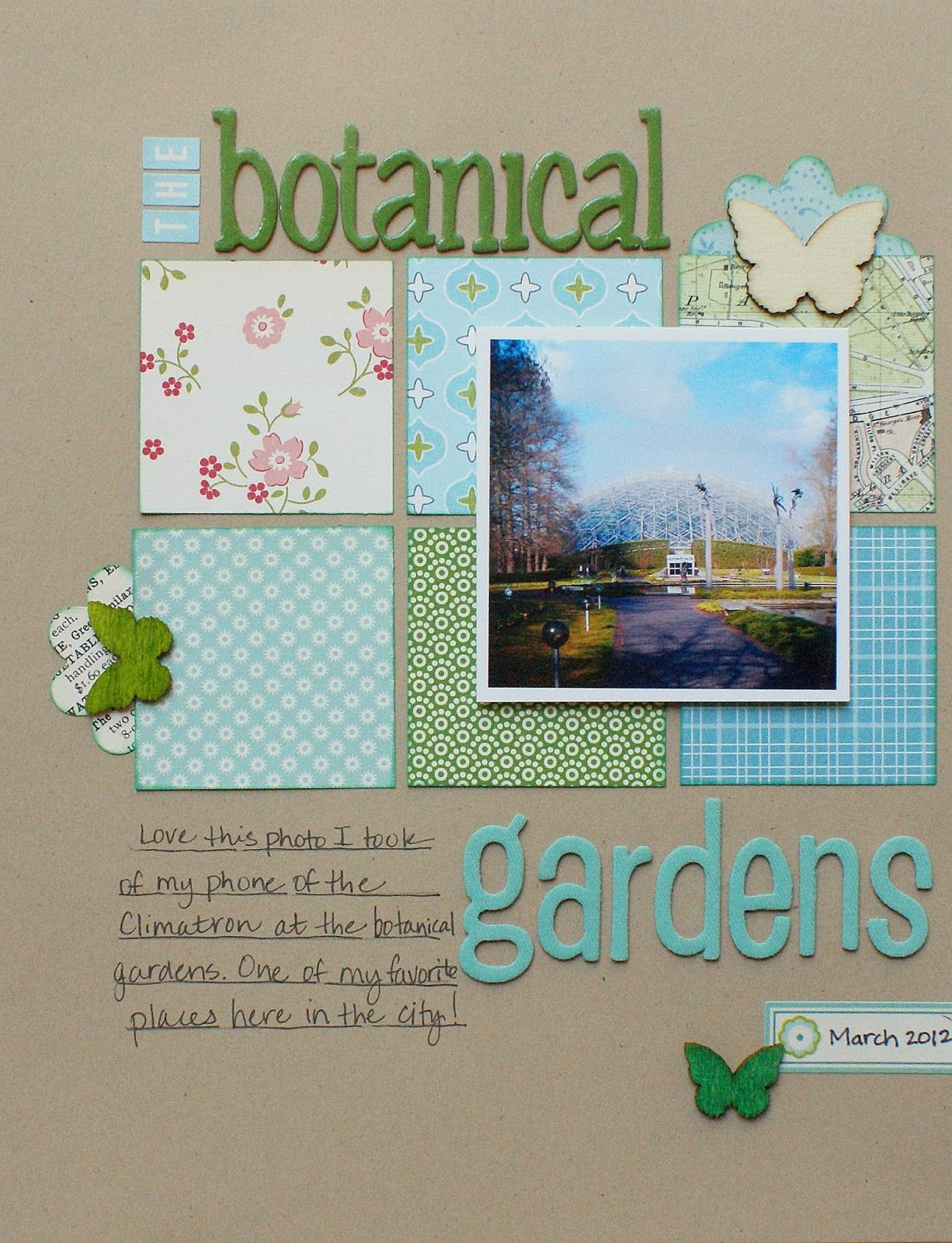 #papercraft #scrapbook #layout.  The Scrapbook Treehouse