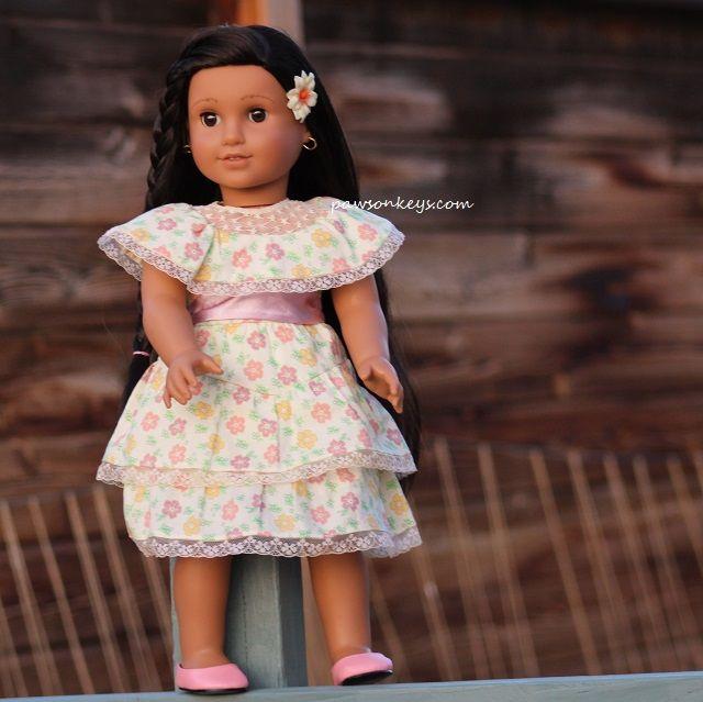 Miss Silver's Josefina outside!