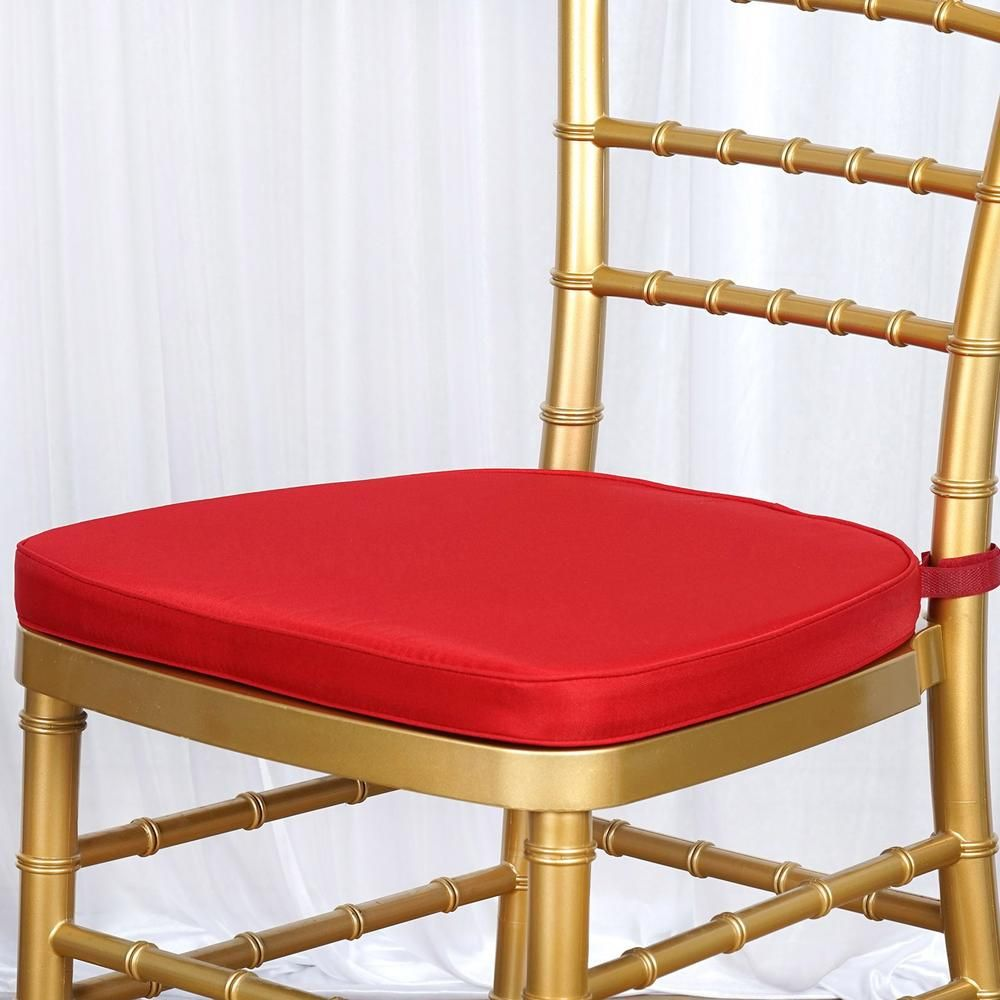 Chair Pad Seat Padded Red Sponge Cushion With Poly Thread Soft