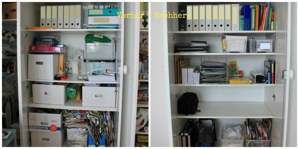 b ro bastelzimmer makeover ordnung im b roschrank little miss organized pins b roschr nke. Black Bedroom Furniture Sets. Home Design Ideas