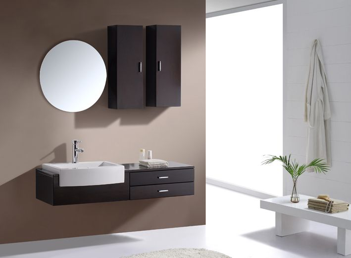 Sink On One Side Drawers On Other Side Floating Bathroom Vanity