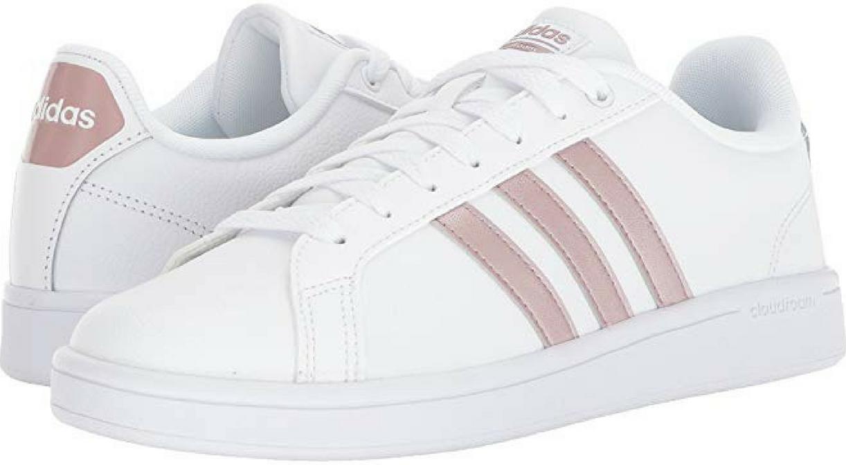 Le Scarpe Di Cuoio Bianco Spot Adidas Donnahoes Flats