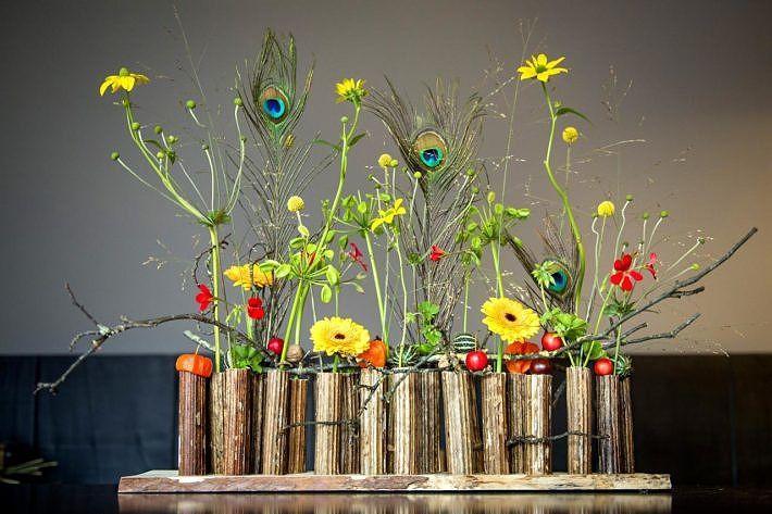 Diy haal de herfst in huis met dit kleurrijke bloemstuk