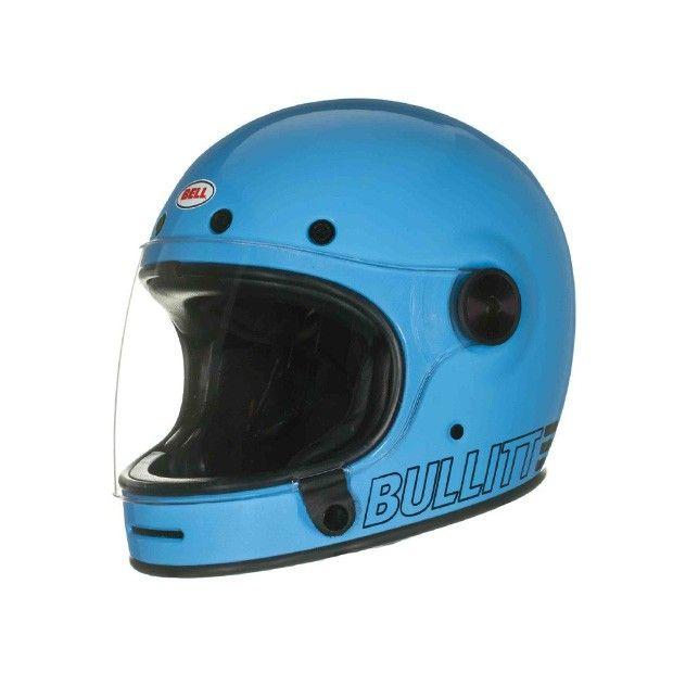 Helmade Bell Bullitt RetroBlue Motorbike Helmet