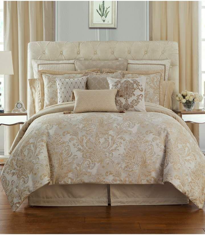 Waterford Annalise Reversible Comforter Sham Bed Skirt Set