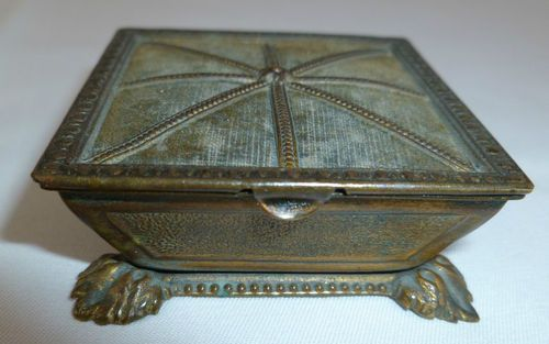 "Avery Figural ""The Queen's Footstool"" Brass Needle Case; Circa 1880♔"