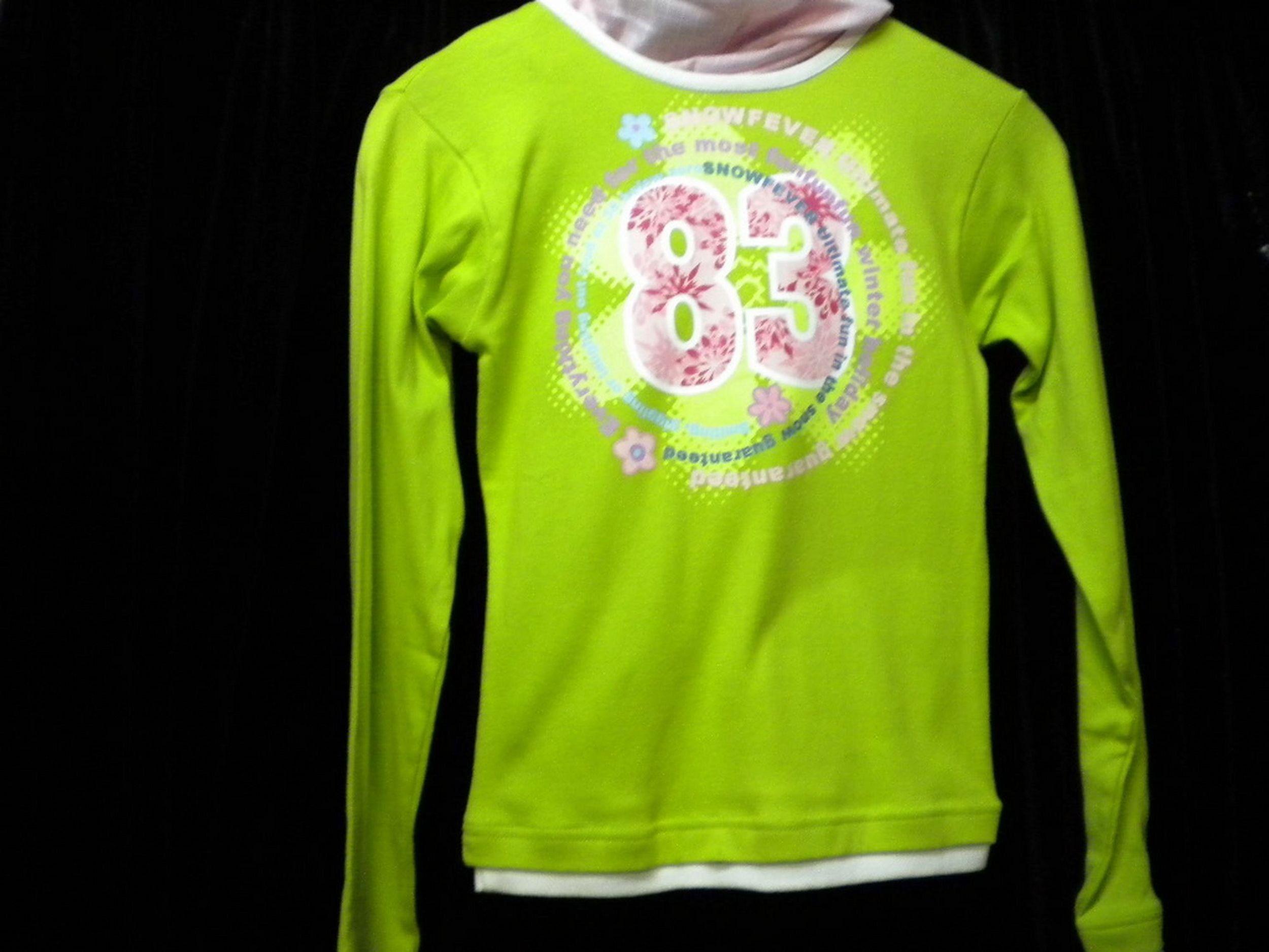 official photos c6cf6 4fd3d Girls Shirt, Langarmshirt, Mädchen, grün- rosa- weiß, Größe ...