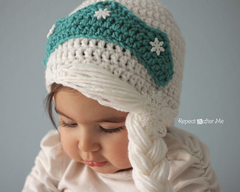 Repeat Crafter Me: Crochet Snow Queen Hat Pattern | crochet ...