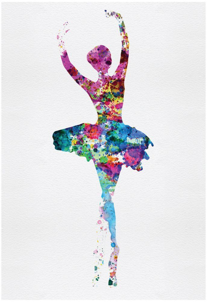 Amazon.com: Ballerina Watercolor 1 Poster by Irina March 13 x 19in: Posters & Prints