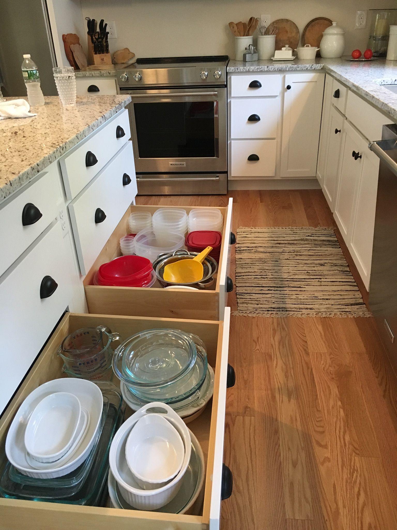 Drawers near dishwasher make unloading a dream organized kitchen