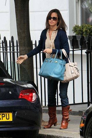 Pippa Middleton Carrying A Hermes Birkin