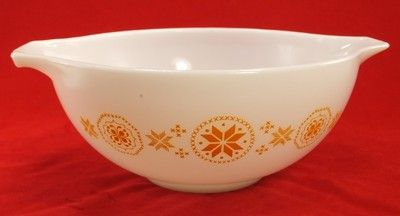 VINTAGE PYREX CINDERELLA yellow/orange star # 443 2 1/2 qt  PYREX OVENWARE BAKEWARE USA GREAT USED CONDITION F                            | Add to Watch list