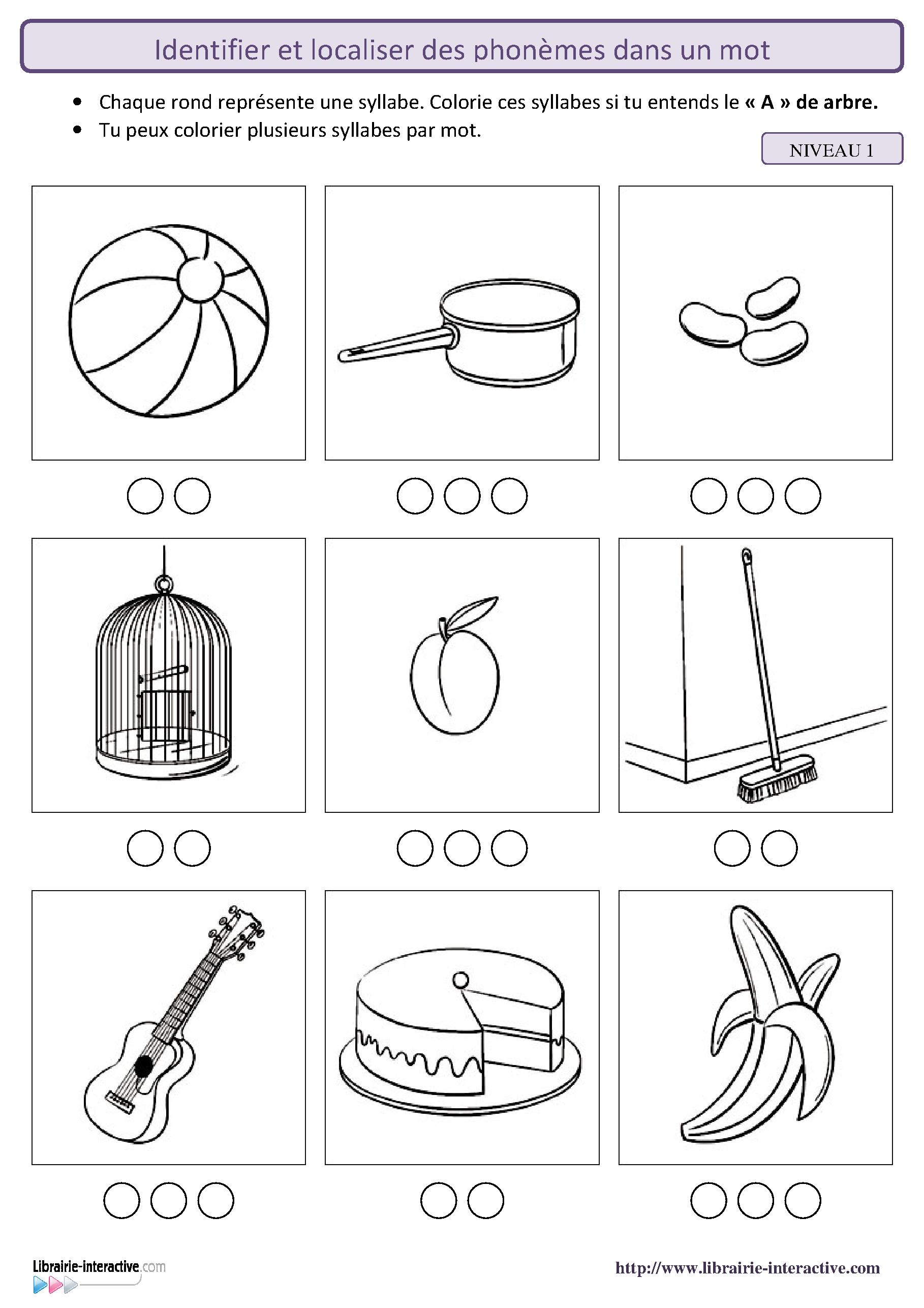 26 fiches pour localiser les sons dans un mot