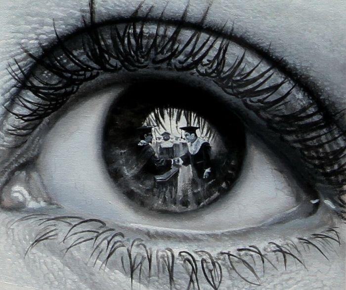 Картинки глаза с отражением