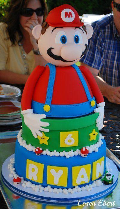 Mario Bros Cake Party Ideas Pinterest Pasteles Originales - Pasteles-infantiles-originales