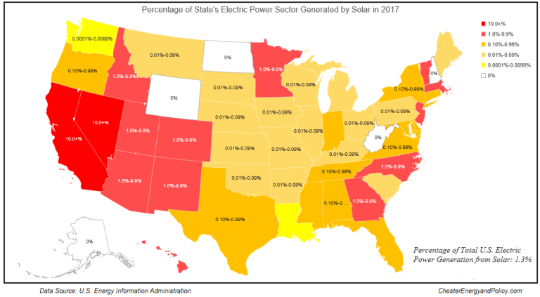 State Us Map Energy Solar Power Utility Energy Solar Map - Solar-map-of-the-us