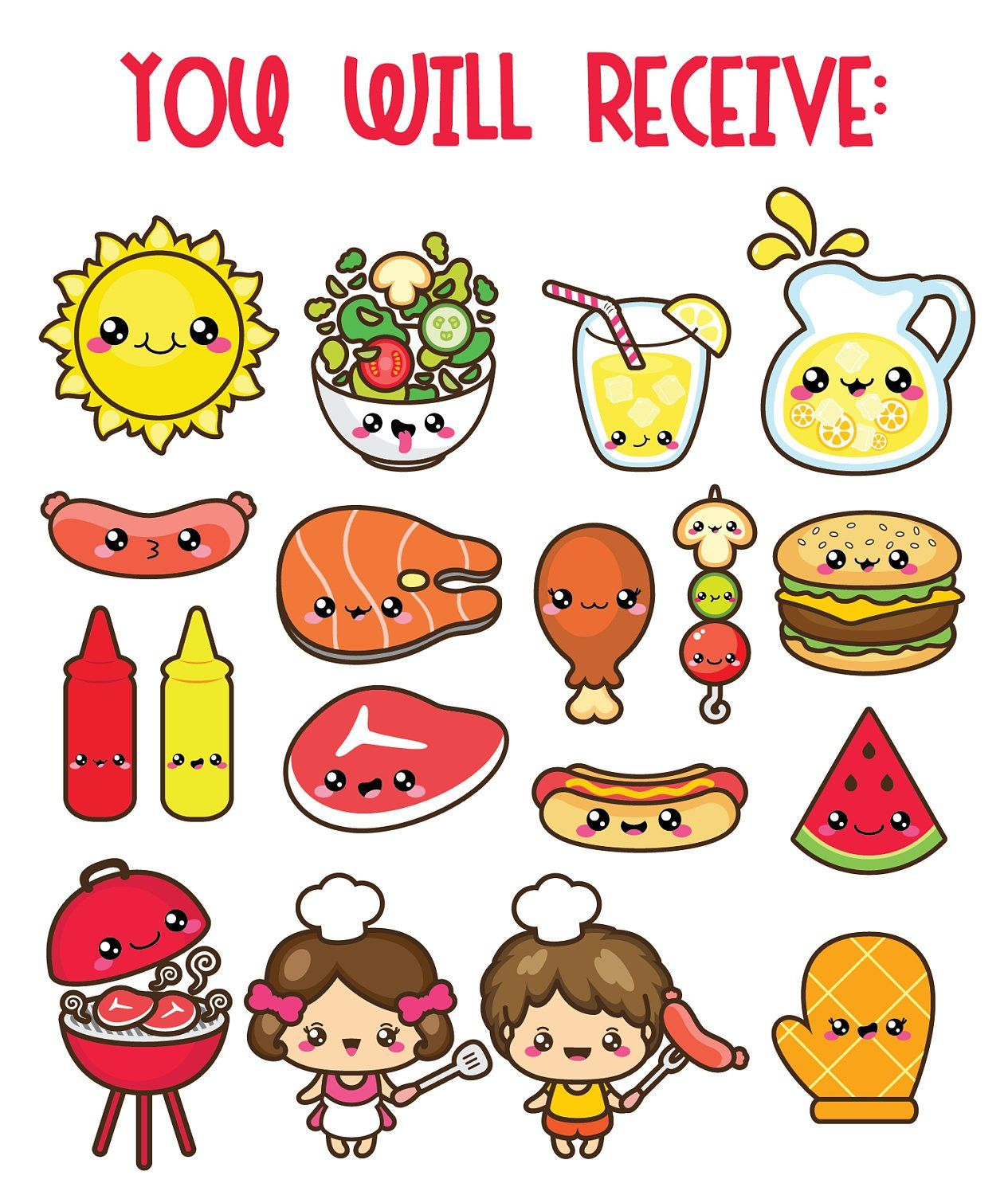 small resolution of 30 off kawaii clip art bbq clipart labor day clipart kid