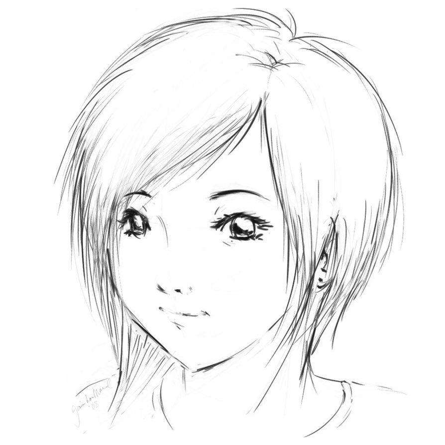 anime, girl, short hair | Os dejo una amplia variedad de dibujos ...