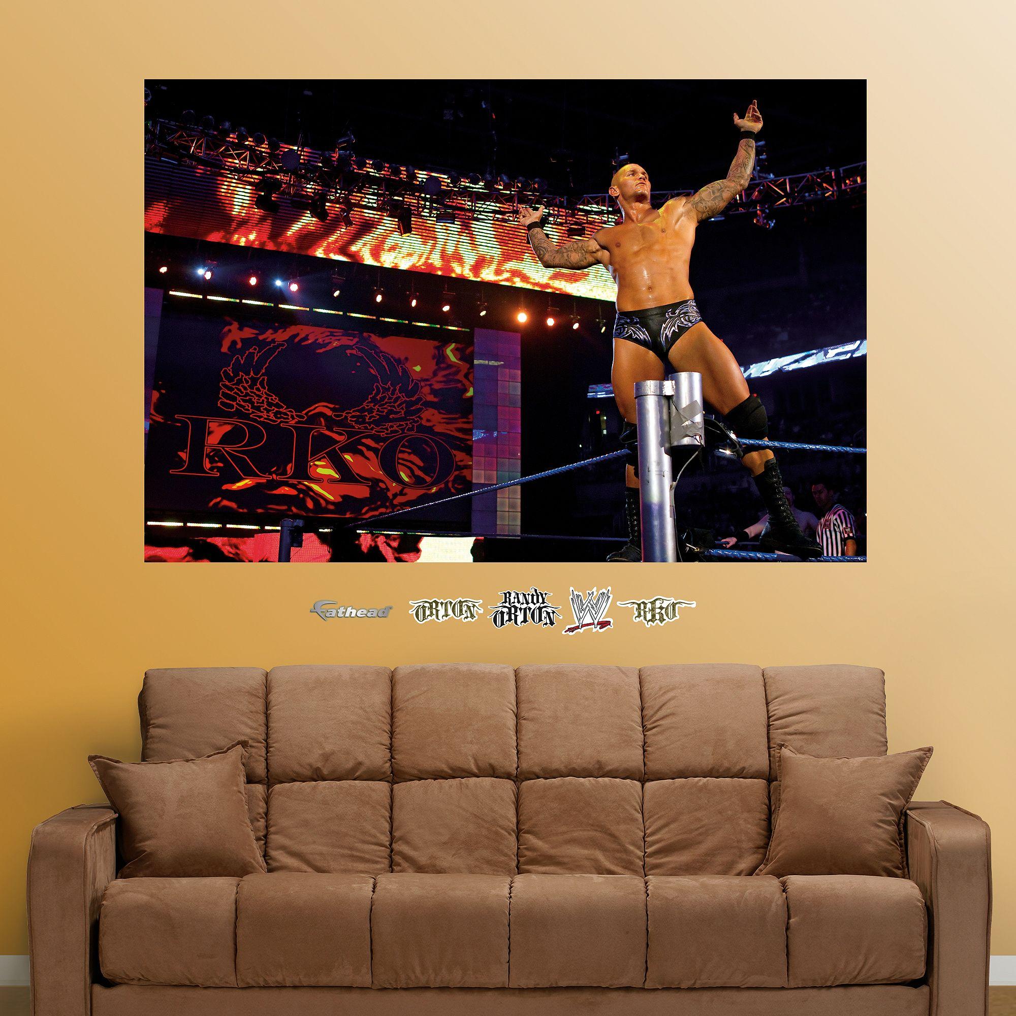 Randy Orton Mural WWF Pinterest Wrestling wwe and Randy orton