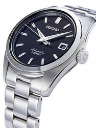 Seiko Black Dial Automatic Dress Watch With 38mm Case And