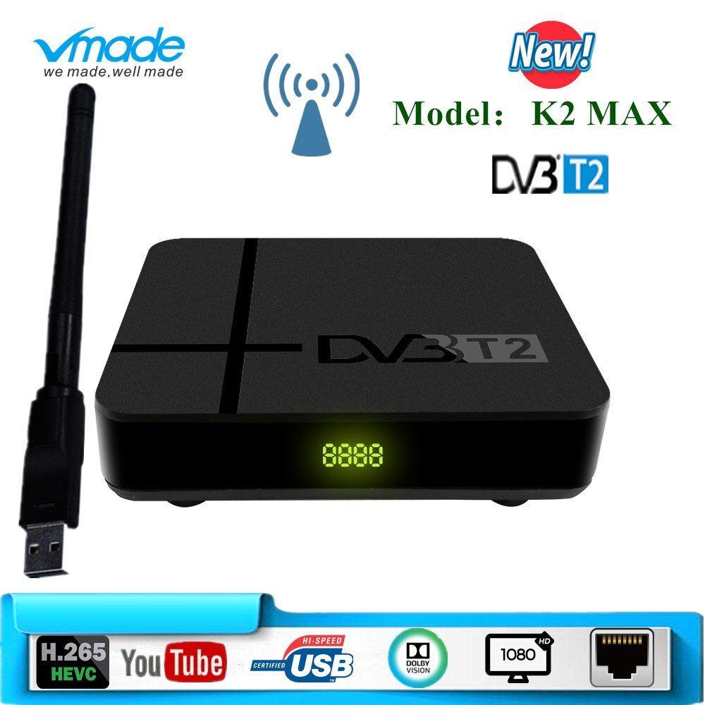 Vmade Dvb T2 K2 Max Box Hd 1080p Terrestrial Receiver Dvb T2 Tv Tuner Decoder Dvb T2 H 265 With Usb Wifi Support Dobly Ac 3 Vmade 1080p Tv Tuner Dvb T2 Usb
