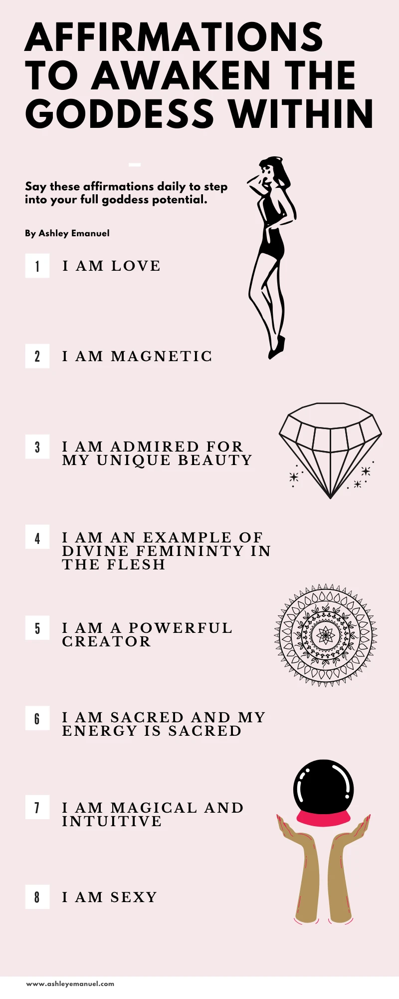 8 Affirmations to Awaken the Goddess Within