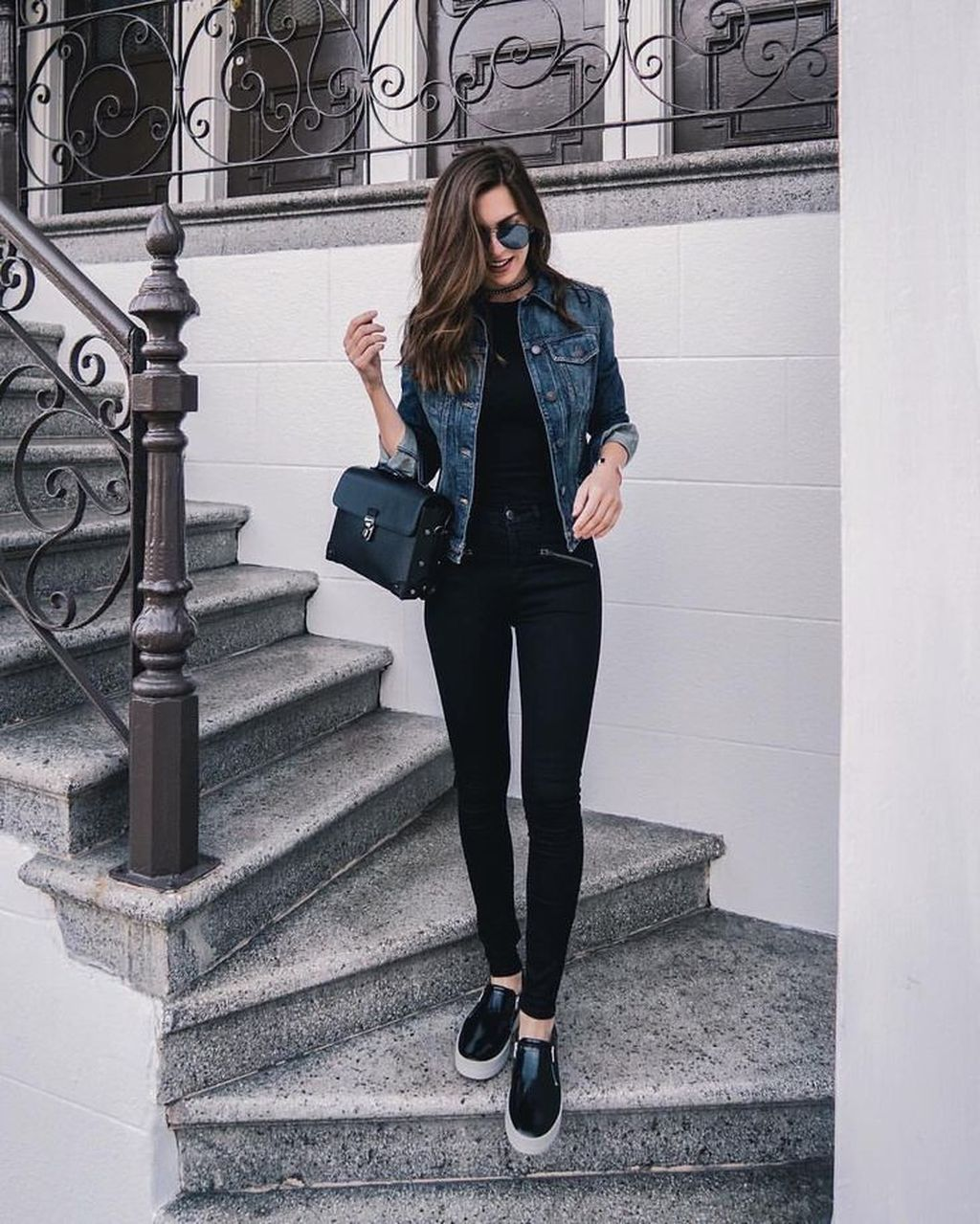 10 Fancy Work Outfits Ideas With Black Leggings To Copy Right Now