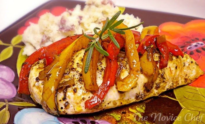 The Novice Chef » Roast Chicken with Balsamic Bell Peppers
