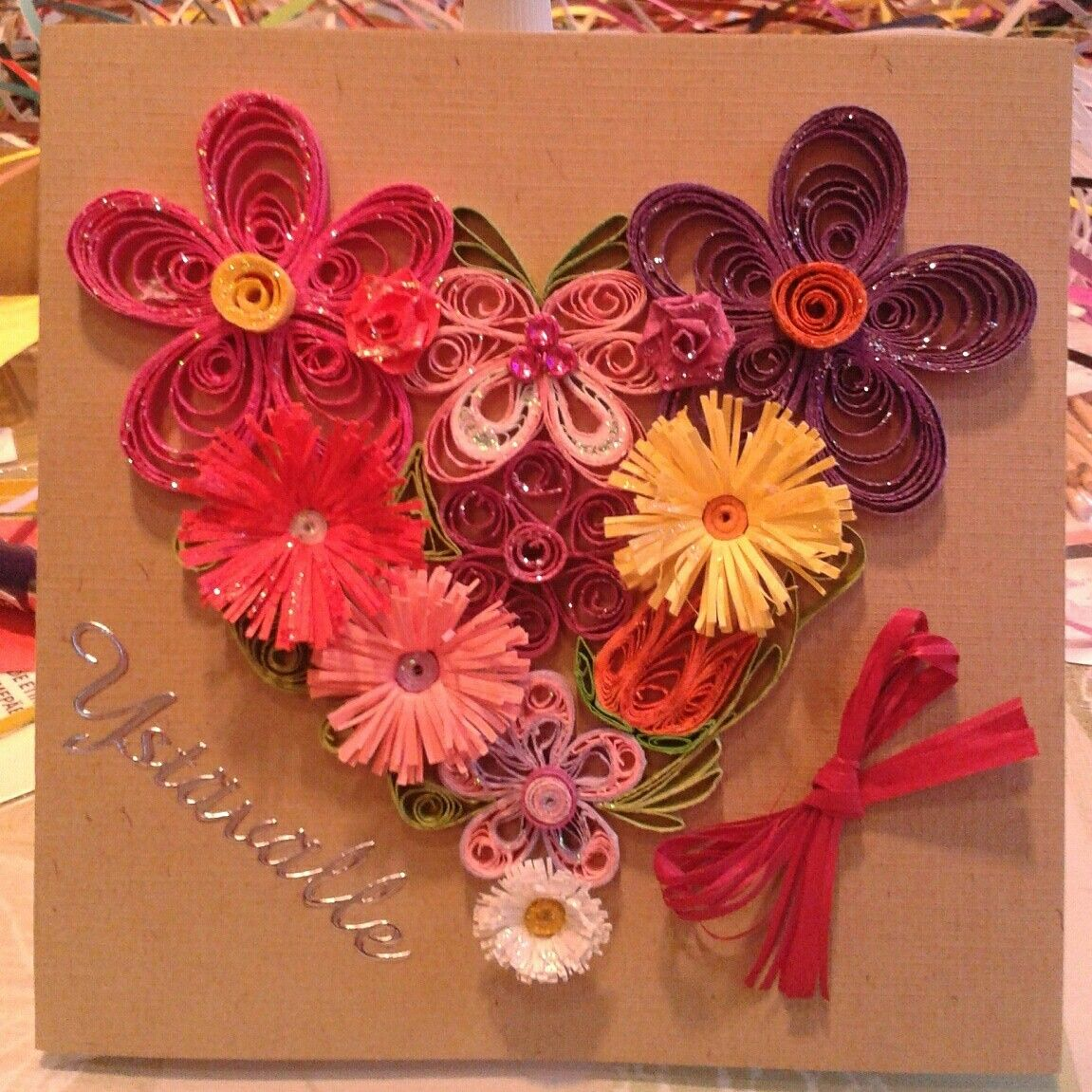 Heart Of Flowers Valentine S Day Card By Quilling Kortteja