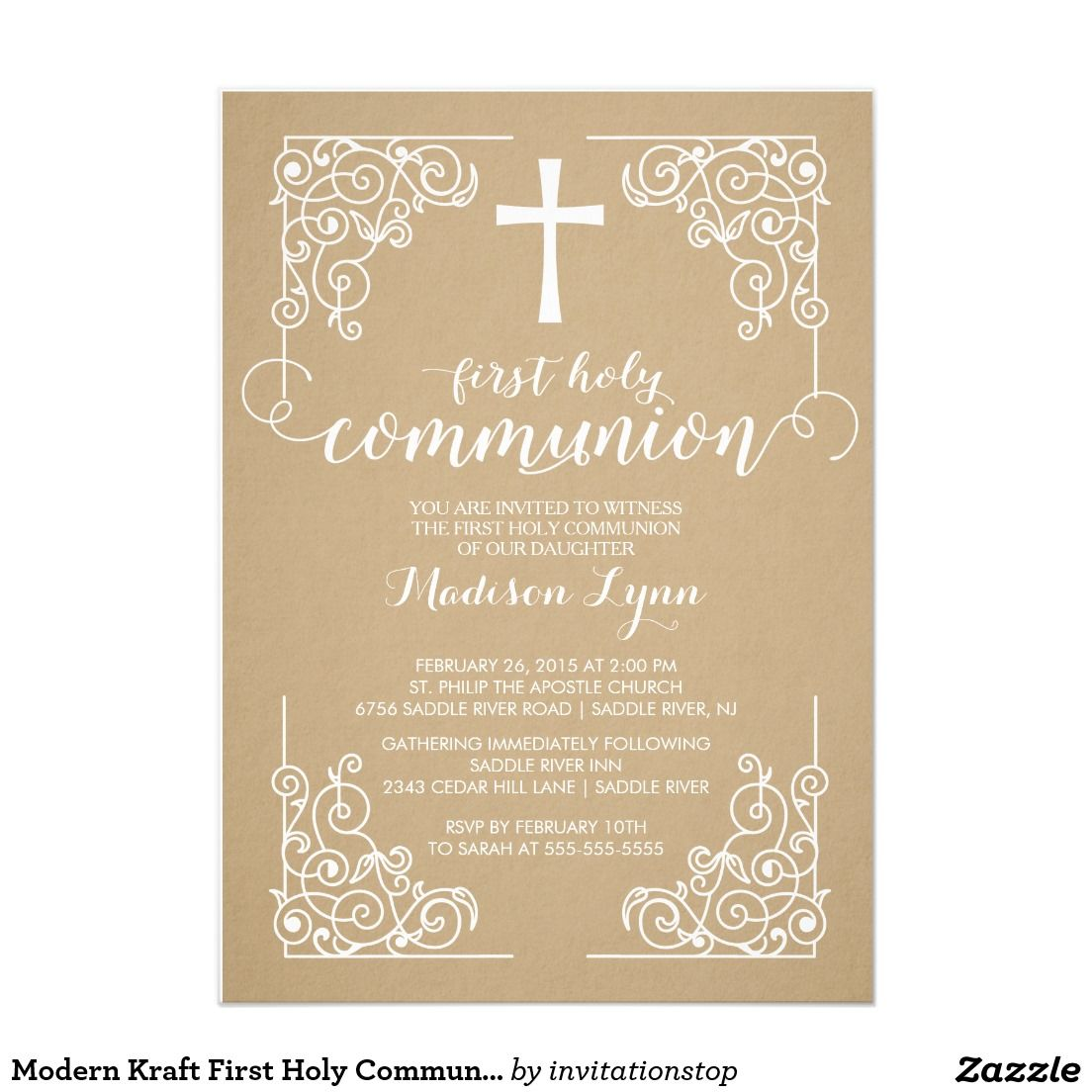 Create your own invitation confirmation