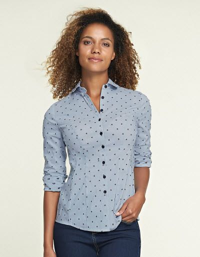 baaba89ed08 Dobby Floral Fitted Shirt | Work It! in 2019 | Bravissimo, Shirts, Dobby
