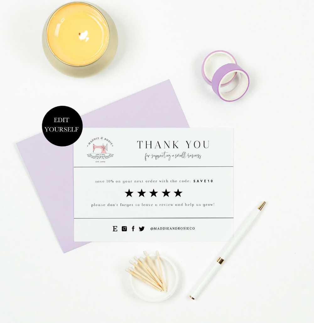 Leave A Review Card Etsy Thank You Insert Etsy Review Customer Etsy Thank You Customers Etsy Reviews Business Thank You Cards