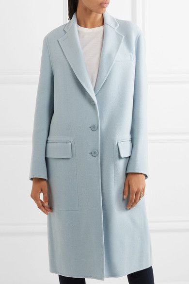 c34b87187c31 Joseph - Simo Wool And Cashmere-blend Coat - Sky blue   Products ...
