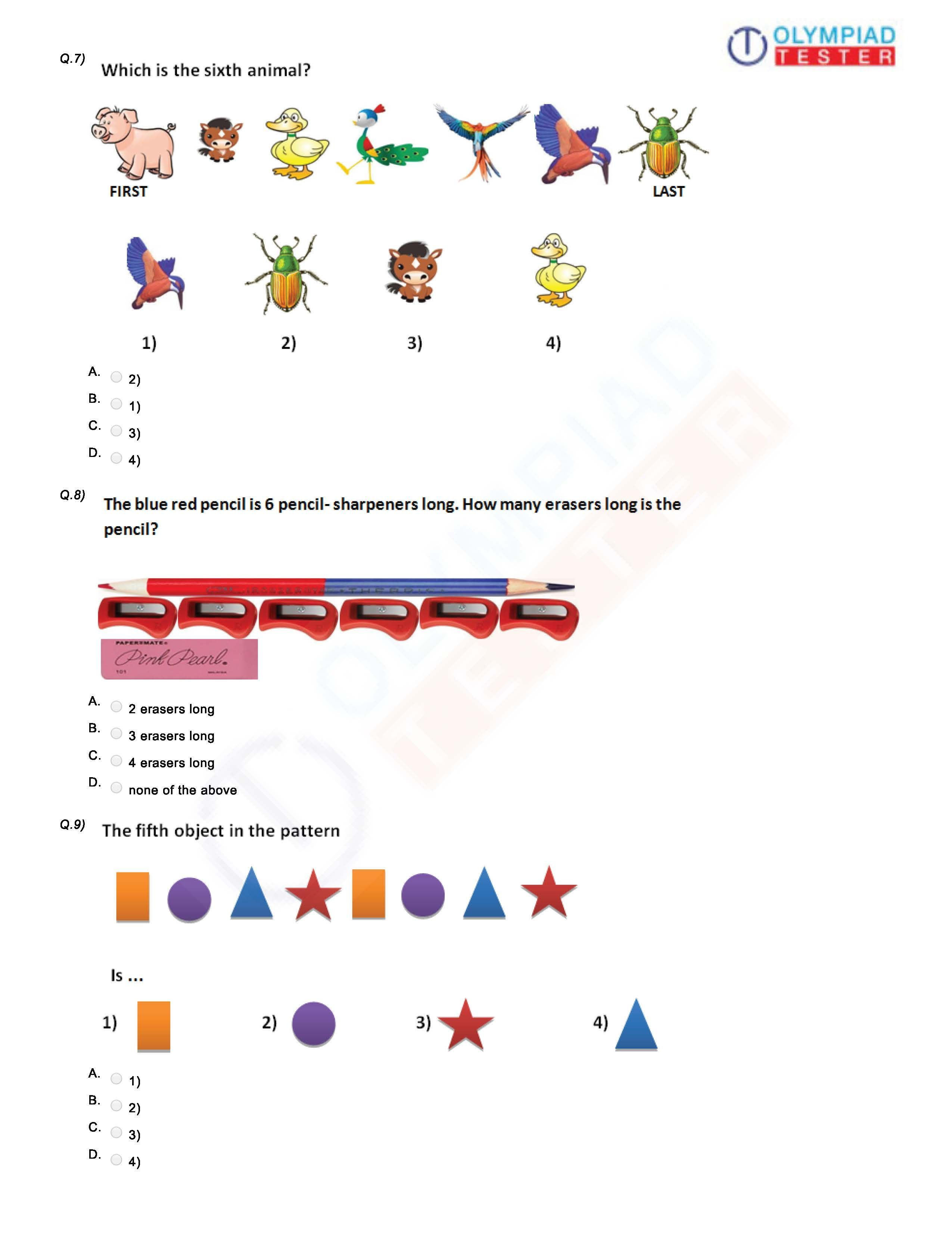 Download Grade 1 Printable Worksheets On Logical Reasoning