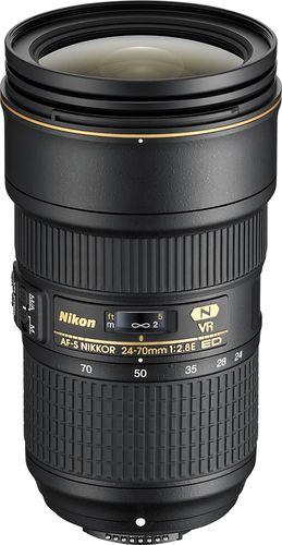 Nikon Af S Nikkor 24 70mm F 2 8e Ed Vr Wide Angle Zoom Lens Black 20052 Best Buy In 2021 Zoom Lens Nikon Digital Camera Lens