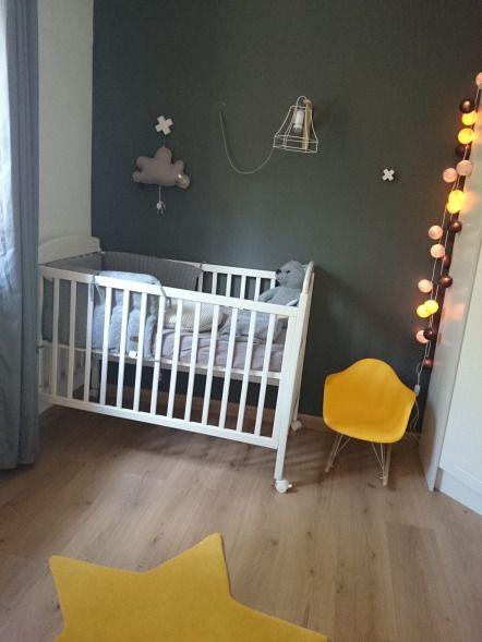D co jaune et gris pour chambre b b gar on nursery - Decoration chambre bebe jaune et gris ...