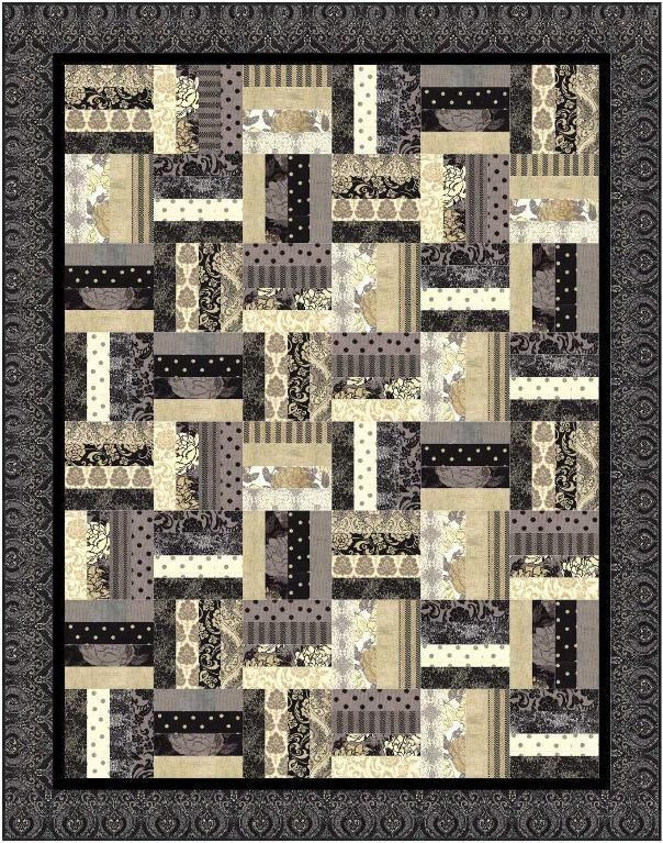 Jelly Roll Quilt Patronen.Jelly Roll Railfence Quilt Quilts Quiltpatronen