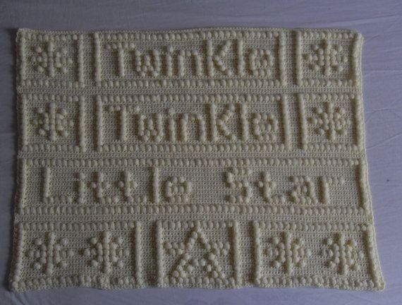 Twinkle Twinkle Little Star Baby Blanket By Peachunicorncrochet