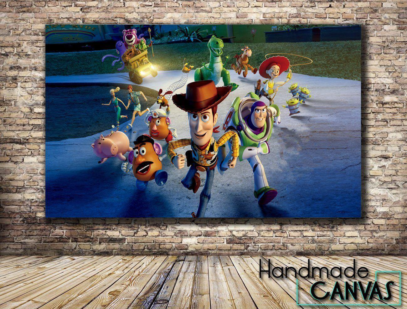 Toy Story Buzz Woody Disney Kids Movie Box Framed Canvas Art