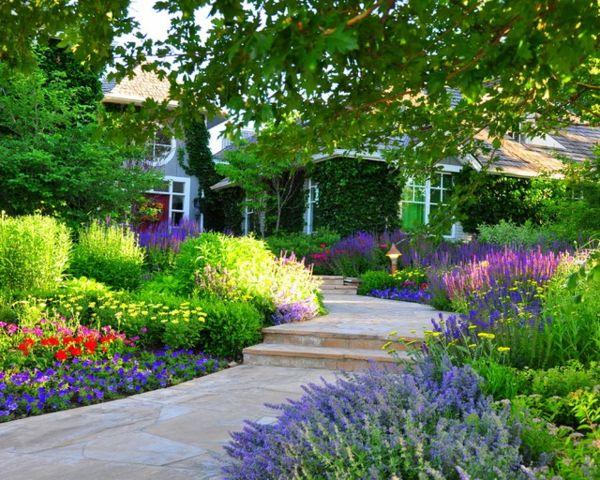 Vorgarten gestalten - 23 schicke, rustikale Gartenideen Balkon - gartenabgrenzung mit pflanzen