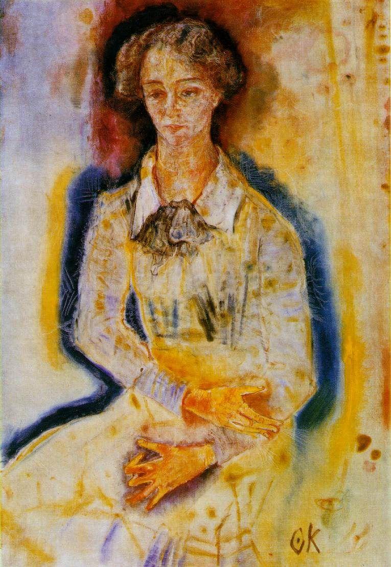 Lotte Franzos By Oskar Kokoschka Painting Artist Art