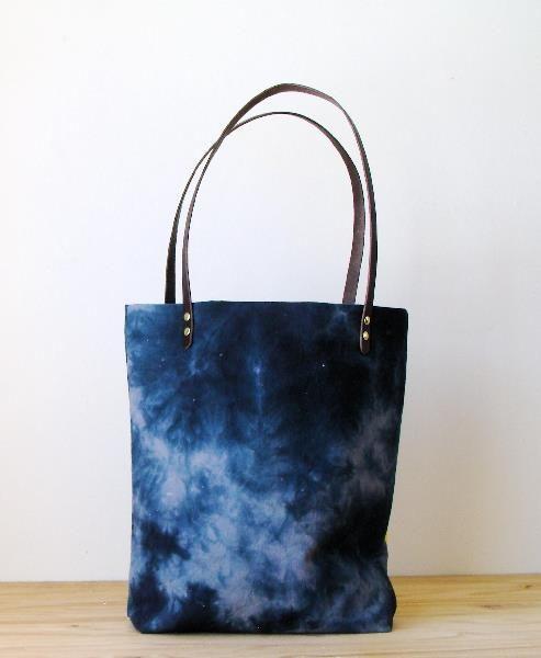 Blues Hand Dyed Weekender Bag / Milkhaus