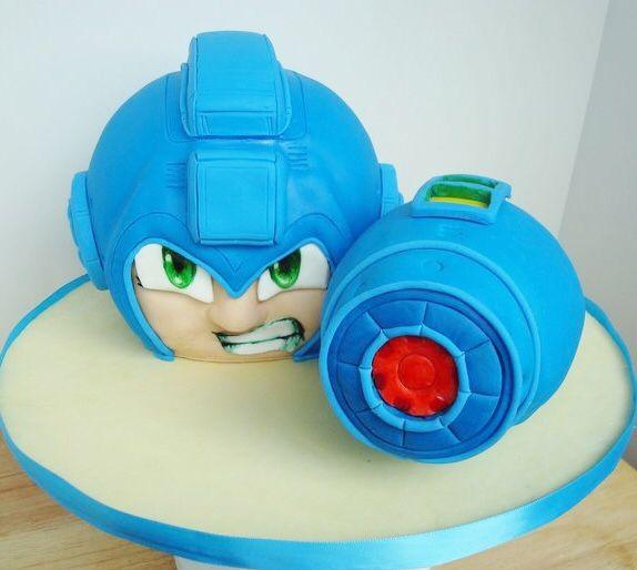 Mega Man Cake. Video Game Cakes