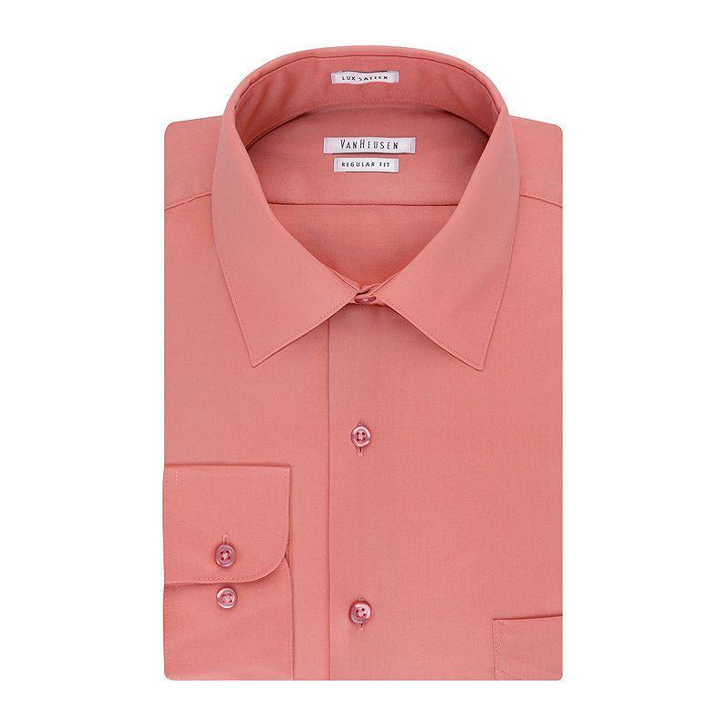 783f1cd1dd30d Van Heusen No-Iron Lux Sateen Dress ShirtBig   Tall