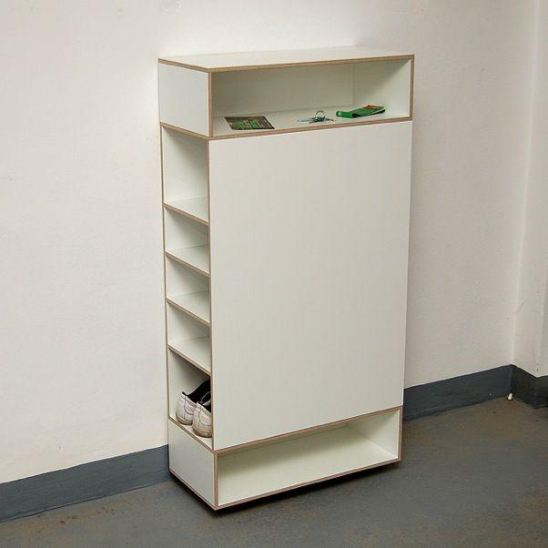 Vanpey Weiss Regal Schuhregal Garderobenmobel