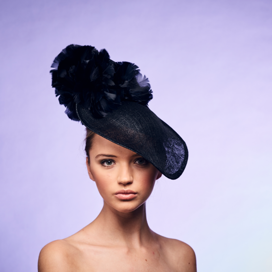 Handcrafted in our London studio.Sinamay upturned hat with