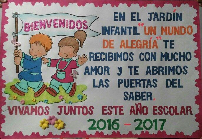 Bienvenidos Carteleras Escolares Educacion Infantil Educacion De Ninos