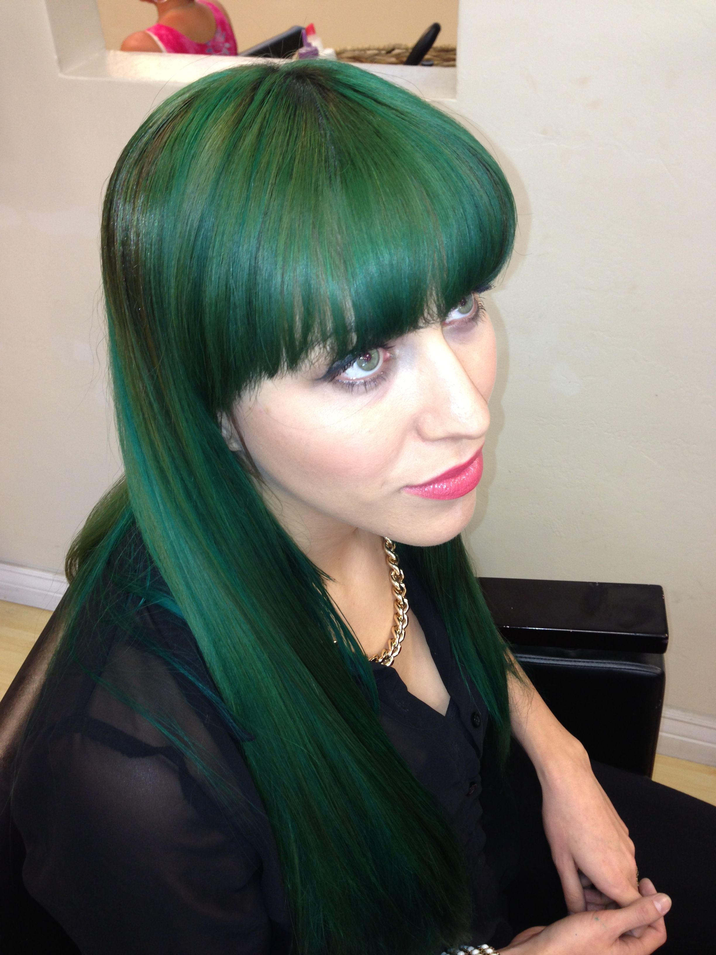 Dark Emerald Green Hair Fabulos Green Hair Emerald Green Hair Wild Hair Color