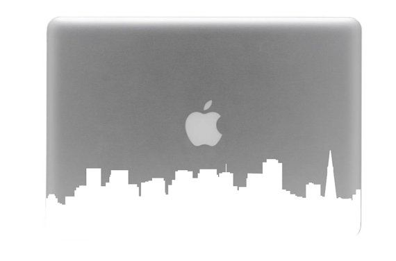 San Francisco Skyline Mac Decal